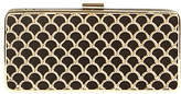 Phase Eight Katy Scallop Box Clutch Bag, Black/Gold