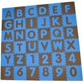 Tadpoles ABC Floor Mats - Blue & Brown