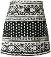 Moncler Gamme Rouge jacquard skirt