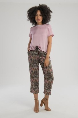 Nation Ltd. The Marie Sateen Crop Top In Lilac - XS