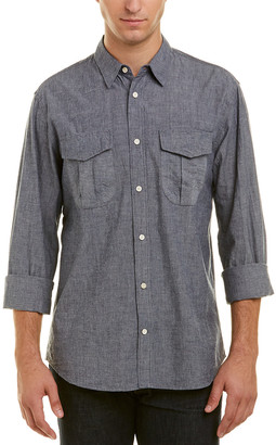 Billy Reid Clancy Selvedge Standard Fit Woven Shirt