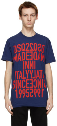 DSQUARED2 Navy Reverse Cool T-Shirt