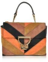 Coccinelle Women's Brown Suede Handbag.