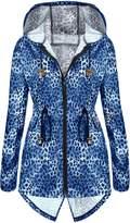 Meaneor Women's Rainproof Waterproof Hooded Jacket XXL