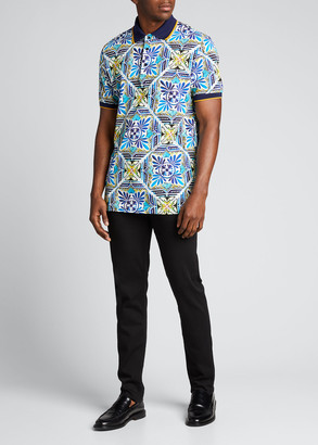 Dolce & Gabbana Men's Maiolica Tile Polo Shirt