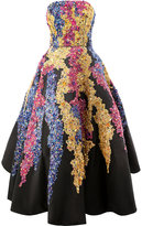 Oscar de la Renta sequin embellished evening dress