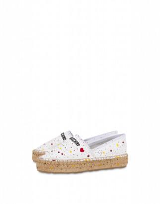 Love Moschino Nappa Espadrilles Pollock Woman White Size 35