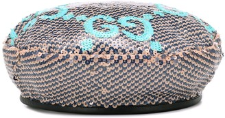 Gucci GG sequined beret