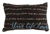 B. Smith Park ''Life Love'' Throw Pillow