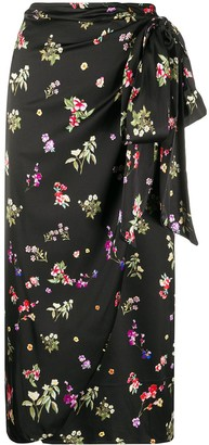 Andamane Knotted Floral Wrap Dress