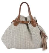 Henry Beguelin Woven Leather Satchel