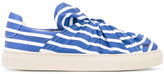 Ports 1961 striped sneakers - women - Cotton/Leather/rubber - 35