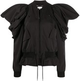 Moschino exaggerated shoulders bomber jacket