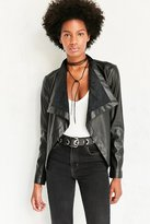 BB Dakota Vegan Leather Waterfall Jacket