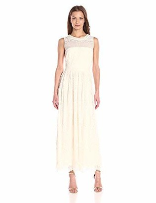 London Times Women's Lace Empire Waist Maxi