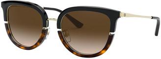 Tory Burch Round Split Front Acetate Sunglasses