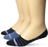 Ben Sherman Men's 3 Pack Annapur Liner Socks, Blue Combo, 10-13/6-12