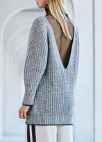 Nude Deep V Sweater Light Grey