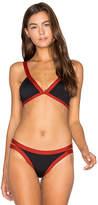 L-Space Farrah Bikini Top in Black. - size L (also in )