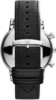 Emporio Armani Luigi Stainless Steel & Leather-Strap Chronograph Watch