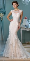 Mon Cheri Enchanting Decorative Button Tulle Wedding Gown