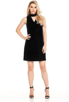 London Times T2960M High Neck Cutout Shift Dress