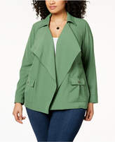 NY Collection Plus Size Open-Front Jacket