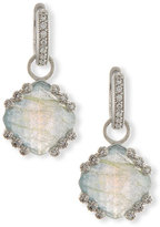 Jude Frances Labradorite & Blue Topaz Earring Charms with Diamonds