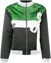 Brognano - sequinned bow-detail jacket - women - Polyamide/Polyester - 40