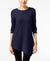 Alfani Petite Asymmetrical-Hem Sweater, Only at Macy's