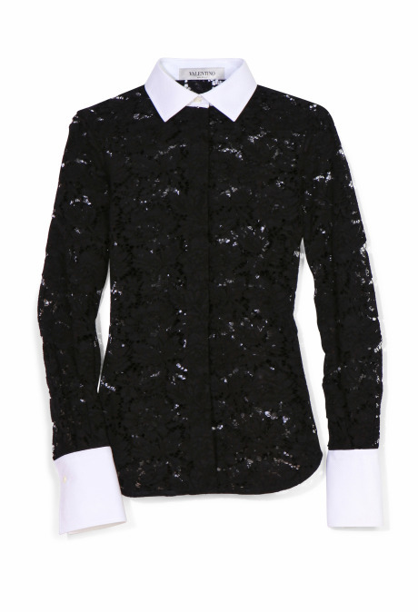 Valentino Two Tone Lace Blouse