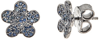 Forever Creations Usa Inc. Forever Creations Silver 1.00 Ct. Tw. Blue Sapphire Studs