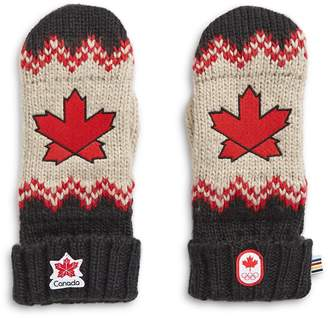 Canadian Olympic Team Collection Adult Fair Isle Mittens