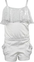 Kate Mack Biscotti Silver Playsuit