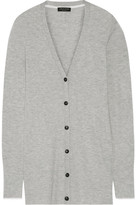Rag & Bone Alexandra Ribbed Cashmere Cardigan - Light gray