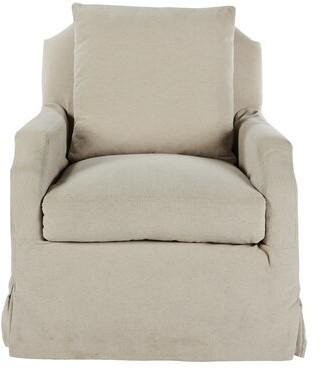 Aidan Gray James Armchair Upholstery Color: Beige