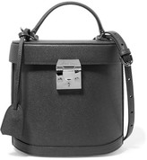 Mark Cross Benchley Textured-leather Shoulder Bag - Charcoal