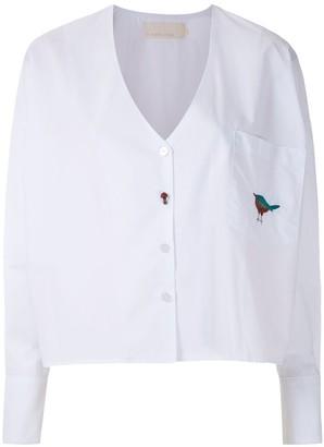Le Soleil D'ete Dina embroidered shirt