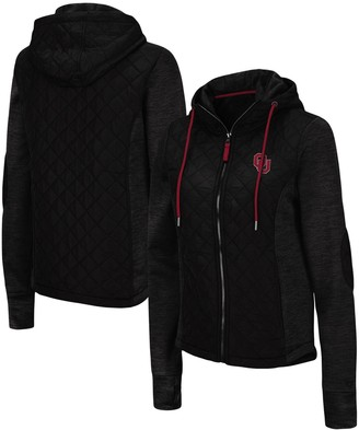 Colosseum Women's Black Oklahoma Sooners Kitty Hybrid Full-Zip Jacket