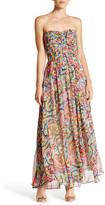 Charlie Jade Print Strapless Maxi Dress