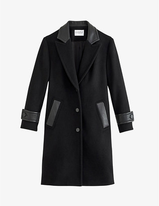 Claudie Pierlot Gloire recycled-wool blend coat