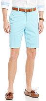 Daniel Cremieux Cassis Garment-Dye Vintage-Wash Flat-Front Shorts