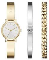 DKNY Women's 'SoHo' Quartz and Stainless-Steel-Plated Casual Watch