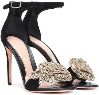 Alexander McQueen Embellished suede sandals