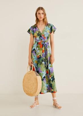MANGO Crossover tropical dress green - 2 - Women