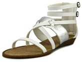 Blowfish Brenna Women Open Toe Leather White Gladiator Sandal.