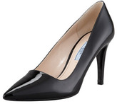 Prada Patent Pointed Toe Pump, Black