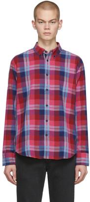 Rag & Bone Burgundy and Blue Fit 2 Tomlin Shirt