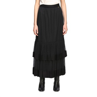 Twin-Set Long Skirt In Point D'esprit Tulle