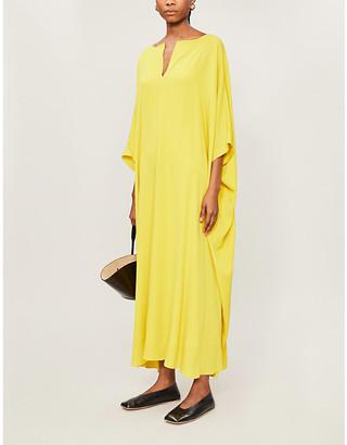 The Row Enrico V-neck silk maxi dress